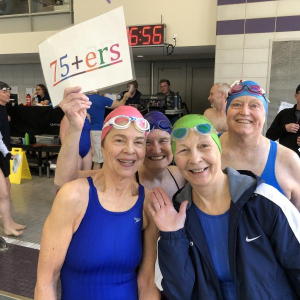 First Ever 75+ Women's Relay Team